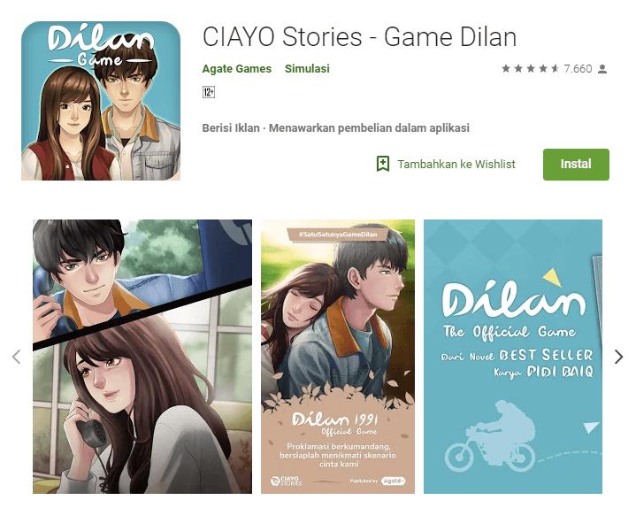 CIAYO Stories Game Dilan