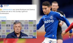 James Rodriguez Absen lawan Southampton