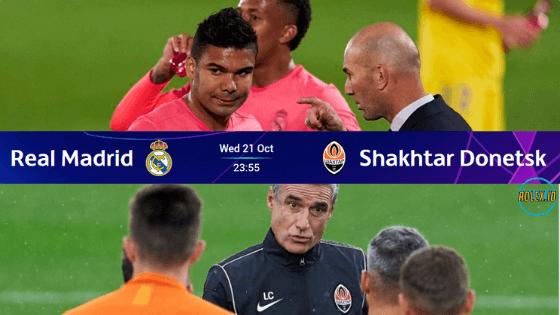 Link Live Streaming liga champions malam ini Real Madrid Vs Shakhtar Donetsk