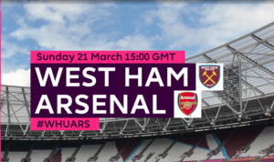 Link Live Streaming Liga Inggris Arsenal Vs West Ham
