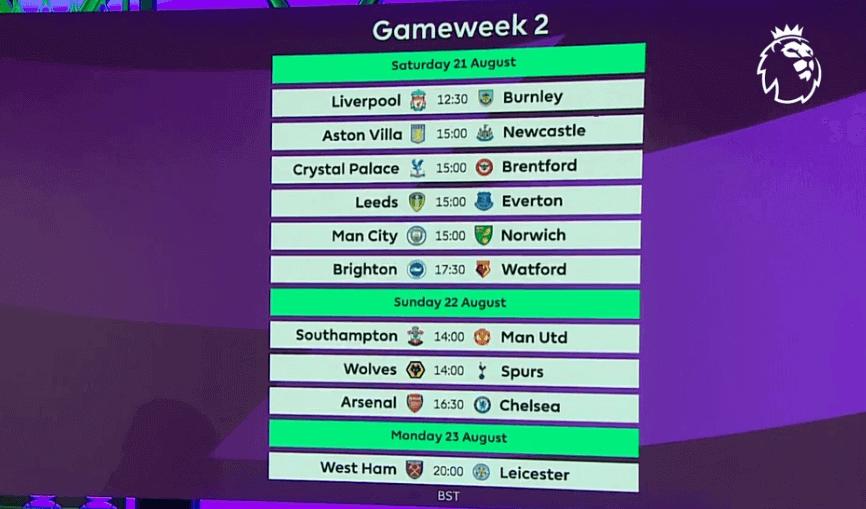 Klasement Liga Inggris pekan 1